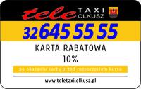 tele TAXI Olkusz 32 645 55 55 karta rabatowa